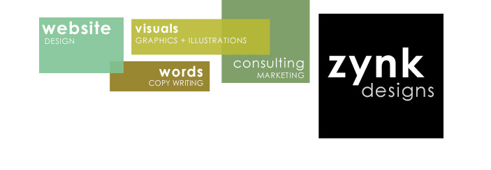 Zynk Designs: Website design, graphics, marketing, business consulting, copy writing